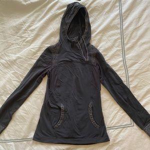 Half zip lululemon sweatshirt with hood